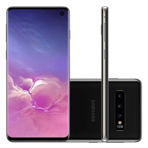 Smartphone Samsung S10 SM-G973F/1DL, Android 9.0, Dual Chip, Processador Octa Core 2.7 GHz, Câmera Tripla Traseira 12 MP + 16 MP + 12 MP e Preto... ES - 242737