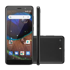 Smartphone Multilaser MS50X, Android 8.1 Versão GO, Dual chip, Câmera 8MP, frontal 8MP, Tela 5.5'', 16GB, 4G, Preto ES - 237683