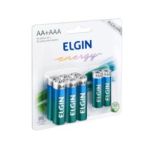 Kit de Pilhas Elgin 6 Alcalina AA + 2 Alcalina AAA DF - 26424