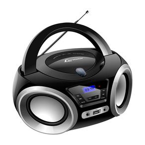 Rádio CD Portátil Lenoxx BD-1370, CD Player, Rádio FM, Display Digital, USB, Entrada Auxiliar. GO - 30865