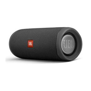 Caixa Bluetooth JBL Flip 5 Black, Estéreo, Classificação IPX7 à prova d?água, S/Fio, Viva voz, Recarregável, Autonomia para 12hs. DF - 56923