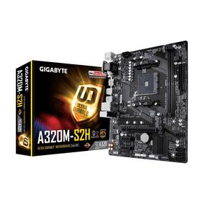 Placa Mãe Gigabyte GA-A320M-S2H DDR4 Socket AM4 Chipset AMD A320 GO - 59514
