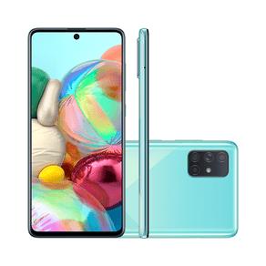 Smartphone Samsung Galaxy A71, SM-A715F, Android 10.0, Dual Chip, Câmera Quádrupla Traseira de 64MP(Principal) + 12MP(Ultra Azul SM-A715FZBPZTO... ES - 242827