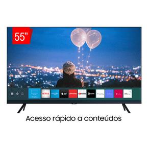 Samsung Smart TV Crystal UHD 55TU8000 4K, Borda Infinita, Alexa built in, Controle Único, Visual Livre de Cabos, Modo Ambiente Foto. GO - 43967