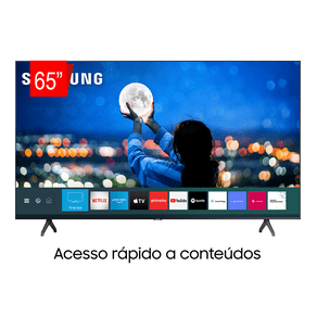 Samsung Smart TV Crystal UHD 65TU7000 4K, Borda Infinita, Controle Único, Visual Livre de Cabos, Bluetooth, Processador Crystal 4K. ES - 43971