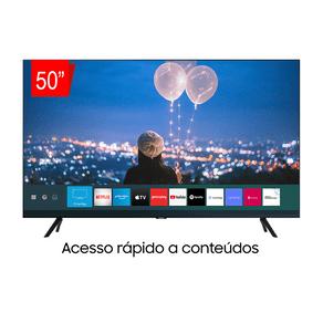 Samsung Smart TV Crystal UHD 50TU8000 4K, Borda Infinita, Alexa built in, Controle Único, Visual Livre de Cabos, Modo Ambiente Foto. GO - 43964