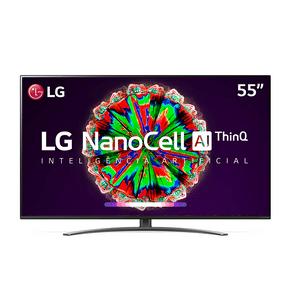 Smart TV LG 55'' NanoCell 4K 55NANO81S IPS, Wi-Fi, Bluetooth, HDR, Inteligência Artificial ThinQ AI, Google Assistente, Alexa IOT DF - 43993
