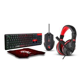 Combo Gamer ELG 4 Em 1 | Headset HGEX + Mouse + Teclado + Mouse Pad - STARTER -  CGST41 DF - 581667
