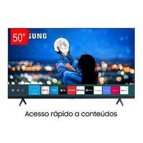Samsung Smart TV Crystal UHD 50TU7000 4K, Borda Infinita, Controle Único, Visual Livre de Cabos, Bluetooth, Processador Crystal 4K. GO - 43963