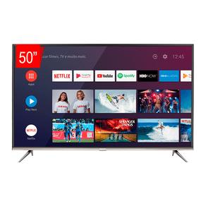 Smart TV LED 50 SEMP SK8300 Ultra HD 4K HDR com Wifi integrado, Android, 3 HDMI, 2 USB, Controle remoto com comando de voz e Google Assistant DF - 43999