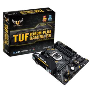 Placa Mãe Asus TUF B360M-Plus Gaming/BR, 64GB, Intel Socket 1151, DDR4 GO - 59614