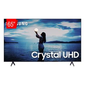 Samsung Smart TV Crystal UHD 65 TU7020 4K, Design sem Limites, Controle Remoto Único, Canaletas para Visual Livre de Cabos | Cinza Escuro DF - 46029