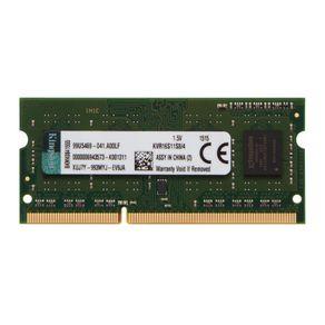 Memória Kingston de 4GB SODIMM DDR3 1600Mhz 1,5V 1Rx8 para notebook - KVR16S11S8/4 DF - 59576