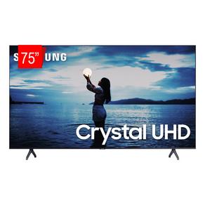 Samsung Smart TV Crystal UHD 75 TU7020 4K, Design sem Limites, Controle Remoto Único, Visual Livre de Cabos, Bluetooth, Bivolt Cinza Escuro DF - 66799