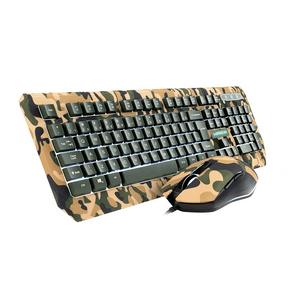 Combo Warrior Kyler Teclado E Mouse Gamer - TC249 Army DF - 582082