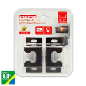 Suporte Brasforma FIXO UNIVERSAL para TV LED, LCD, Plasma, 3D e Smart TV de 10