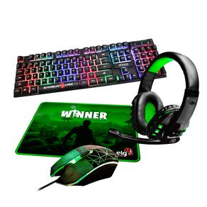 Combo Gamer ELG 4 em 1 Winner Teclado + Mouse + Headset + Mouse Pad   CGWN41 DF - 582208